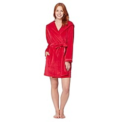 B by Ted Baker - Dark pink short moleskin dressing gown