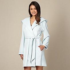 B by Ted Baker - Light blue short moleskin dressing gown