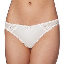 J by Jasper Conran - Designer ivory embroidered lace thong
