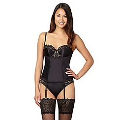 J by Jasper Conran - Designer black embroidered basque
