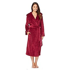 B by Ted Baker - Maroon moleskin long dressing gown