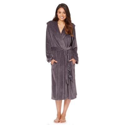 B by Ted Baker Dark grey moleskin long dressing gown - . -