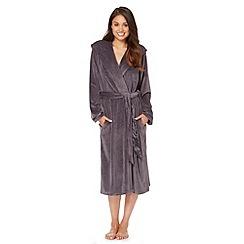 B by Ted Baker - Dark grey moleskin long dressing gown