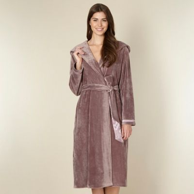 B by Ted Baker Fawn moleskin long dressing gown - . -