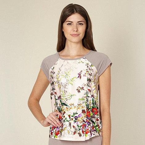 B by Ted Baker - Beige floral garden print pyjama top