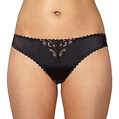 J by Jasper Conran - Designer black embroidered brazilian briefs
