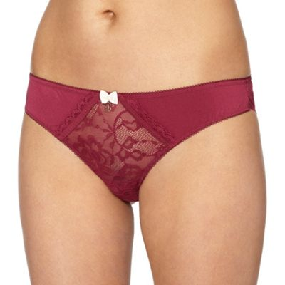 B by Ted Baker Red lace brazilian briefs - . -