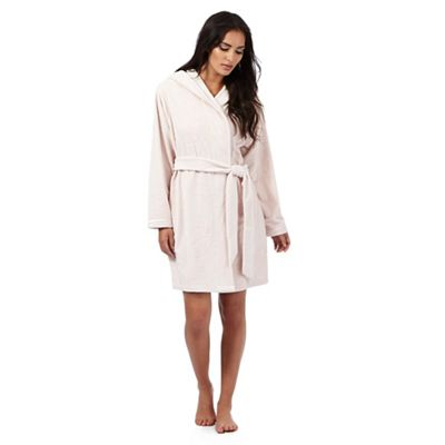 B by Ted Baker Light pink short embossed dressing gown - . -