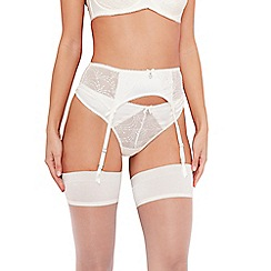 B by Ted Baker - Ivory embroidered Swarovski crystal detail suspender belt