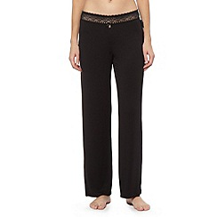 B by Ted Baker - Black jersey and lace pyjama bottoms