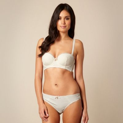 B by Ted Baker Cream lace detail multiway long line bra - . -