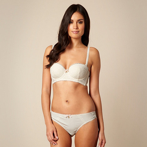 B by Ted Baker - Cream lace detail multiway long line bra