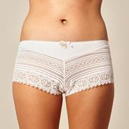 Pale pink lace shorts