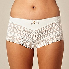 B by Ted Baker - Cream lace detail shorts
