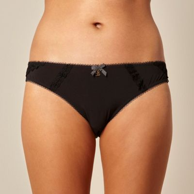 B by Ted Baker Black lace detail brazilian briefs - . -