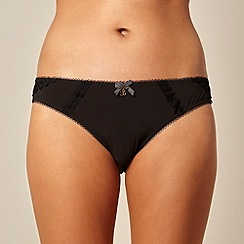 B by Ted Baker - Black lace detail brazilian briefs