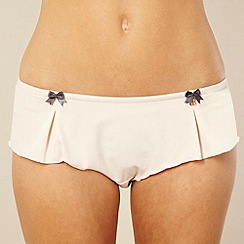 B by Ted Baker - Pale pink pleat detail shorts