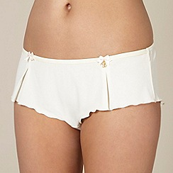 B by Ted Baker - Ivory pleated hipster shorts