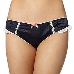 Floozie by Frost French - Navy flocked hearts hipster briefs