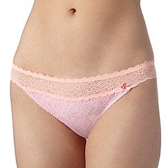 Iris & Edie - Pink floral lace hipster briefs