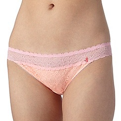 Iris & Edie - Light pink floral lace hipster briefs