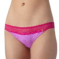 Iris & Edie - Light purple floral lace hipster briefs