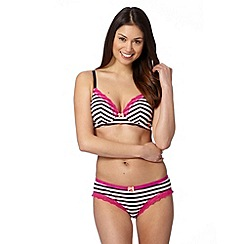 Iris & Edie - Navy striped non wired bra