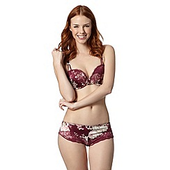 Adore Moi by Ultimo - Purple floral satin balcony bra