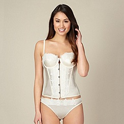 Reger by Janet Reger - Ivory lace trim bridal basque