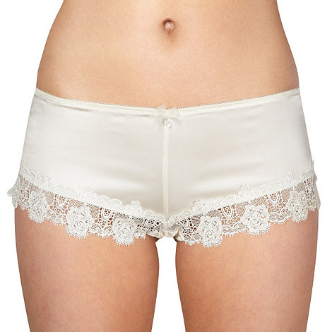 Reger by Janet Reger - Ivory lace trim bridal shorts