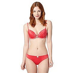 Floozie by Frost French - Dark pink two tone lace plunge bra