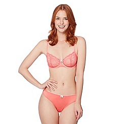 Floozie by Frost French - Pink two tone lace non padded bra