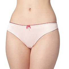 Floozie by Frost French - Pale pink two tone lace brazilian briefs