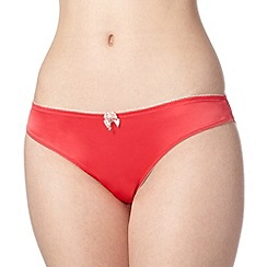 Floozie by Frost French - Dark pink two tone lace brazilian briefs