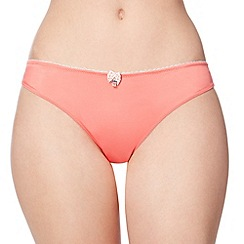Floozie by Frost French - Pink two tone lace back brazilian briefs
