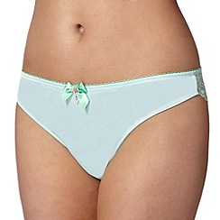 Floozie by Frost French - Pale green two tone lace brazilian briefs