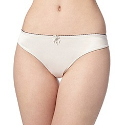 Floozie by Frost French - Ivory two tone lace brazilian briefs