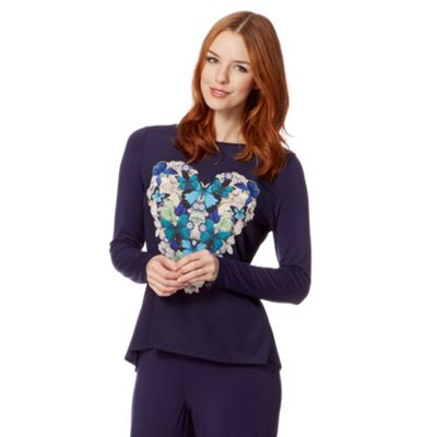 B by Ted Baker Purple butterfly heart jersey top - . -