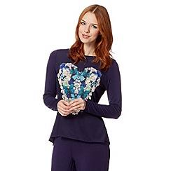 B by Ted Baker - Purple butterfly heart jersey top