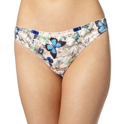 B by Ted Baker Pale pink butterfly and jewel printed thong - . -