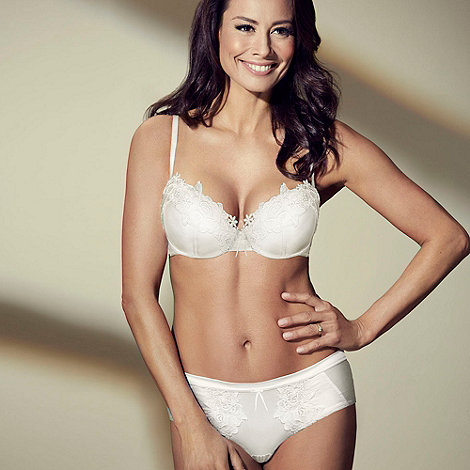 Adore Moi by Ultimo - Ivory +Garland+ bridal shorts