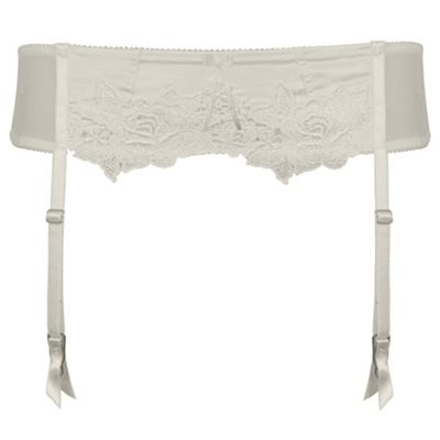 Ivory Garland bridal suspender