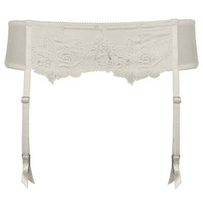 Ivory Garland bridal suspender