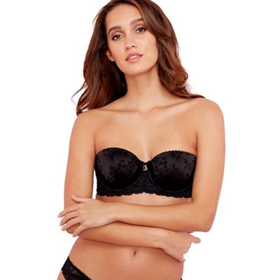 B by Ted Baker Black floral lace balcony bra - . -