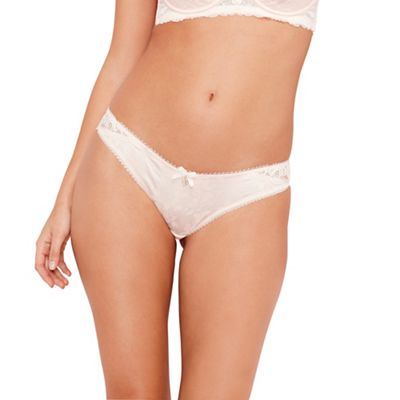 B by Ted Baker Pink floral lace brazilian briefs - . -