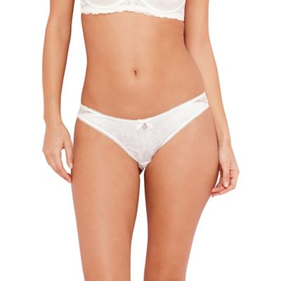 B by Ted Baker Ivory floral lace brazilian briefs - . -