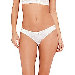 B by Ted Baker - Ivory floral lace brazilian briefs