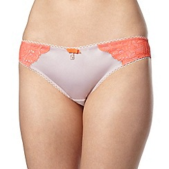 B by Ted Baker - Pale pink lace back brazilian briefs