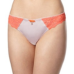 B by Ted Baker - Pale pink lace back thong