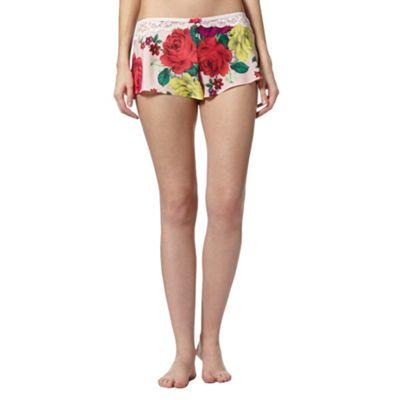 B by Ted Baker Light pink rose bug pyjama shorts - . -